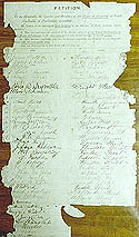 Signatures presented to the South Australian Parliament in August 1894