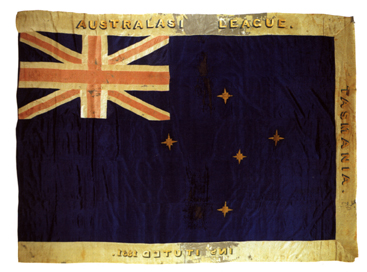 Flag with the Union Jack and Southern Cross
