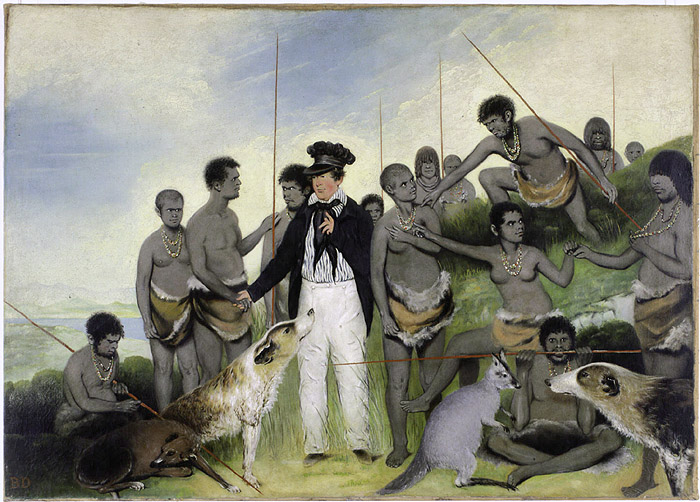 This 1840 painting idealised the work of George Augustus Robinson
