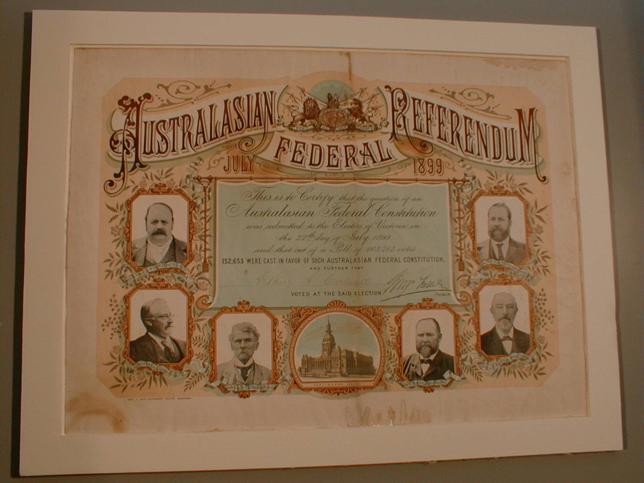This poster, featuring the six Colonial Premiers